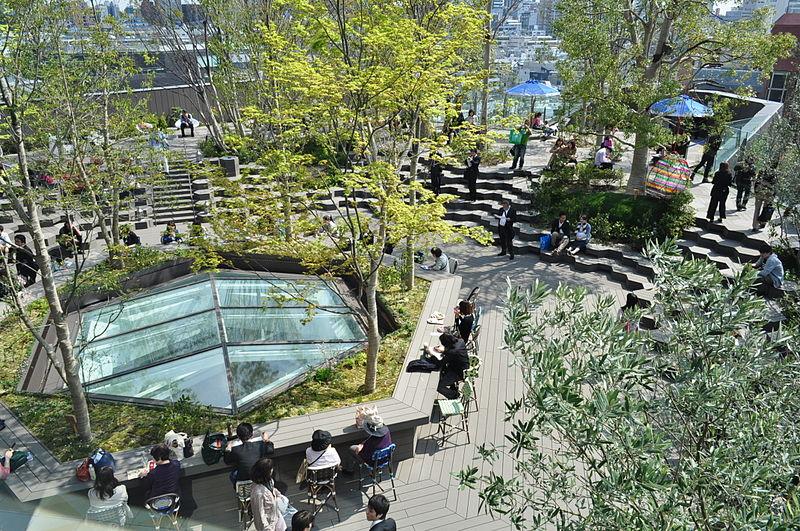 Le rooftop verdoyant du Tokyu Plaza à Harajuku