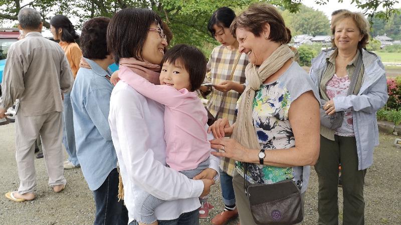 Georgette et sa famille japonaise ont passé un bon moment ensemble