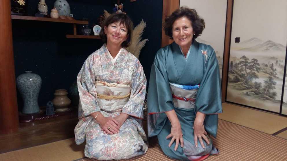 Anne et Chantal en parfaites japonaises - Voyage Japaventura Octobre 2018