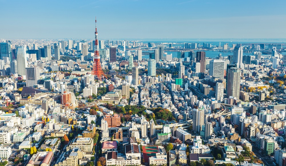 Tokyo skyline in Japan-2
