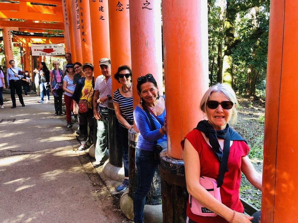 Les voyageurs de Japaventura à Fushimi Inari - Novembre 2018